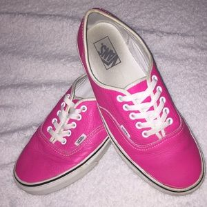 Pink Leather Vans  Size 10